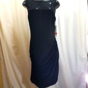 Illusion Keyhole Little Black Dress
